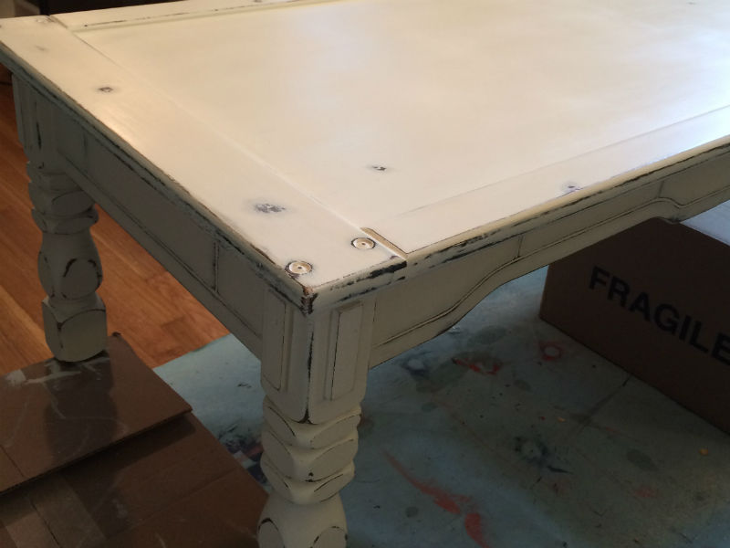 Coffee Table Sealed With Wax