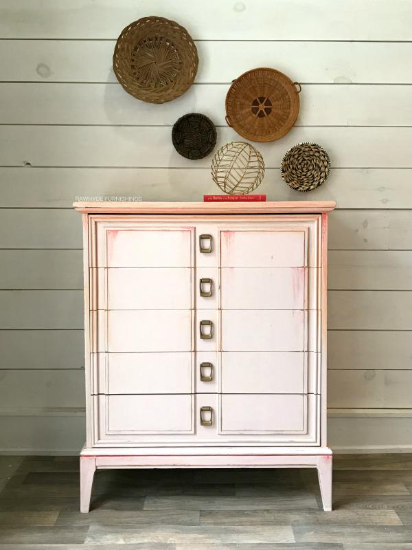 Pink Dresser Makeover - Final