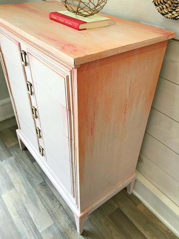 Pink Dresser Makeover - Close-Up