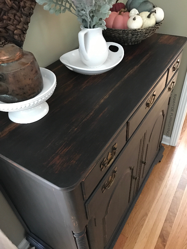 Buffet Painted In Matte Black