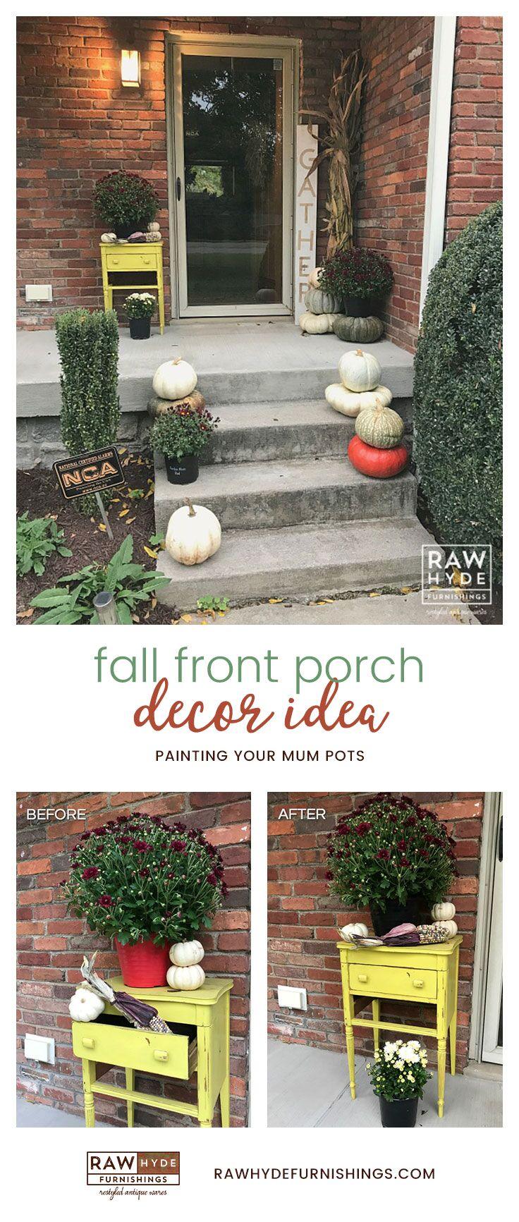 Fall Porch Decor Idea Pinterest Image