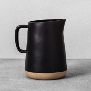 Black Stoneware Pitcher