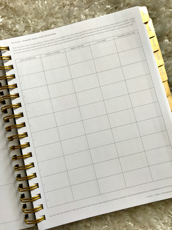 Day Designer Planner Action Steps For Goals