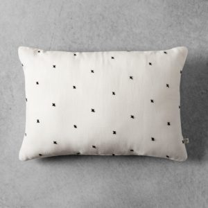Embroidered X Pattern Throw Pillow