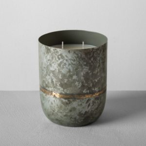 Galvanized Container Candle