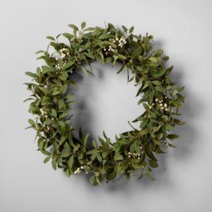 Lamb Ear & White Berry Wreath