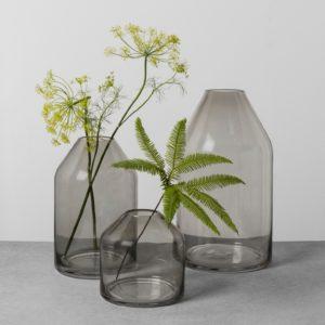 Smoke Glass Jug Vase