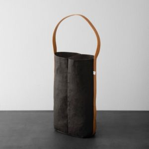 2-Bottle Wine Bag with Leather Strap